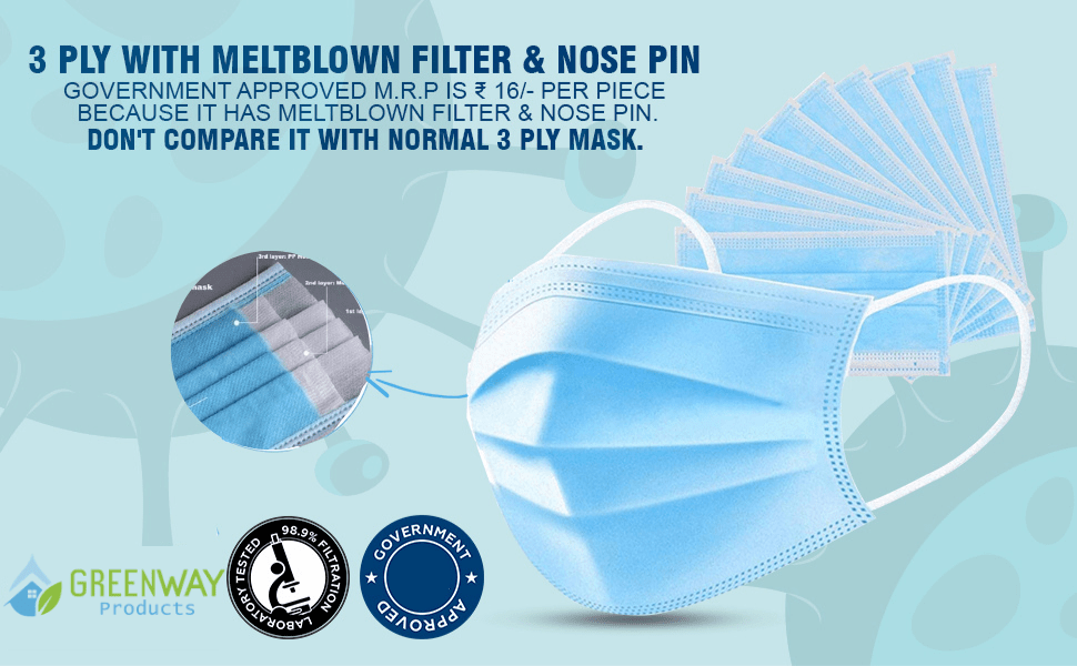 Meltblown face mask